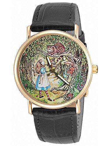 Alice au Pays des Merveilles, Superbe Lewis Caroll Art du Chat du Cheshire 30 mm Montre
