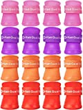 Weewooday 16 Pieces Pet Snow Shoes Dog Rain Boots Candy Colors Dog Silicone Booties Waterproof Anti-Slip and Adjustable for Rainy Snow Weather (Pink, Red, Orange, Purple,Medium)