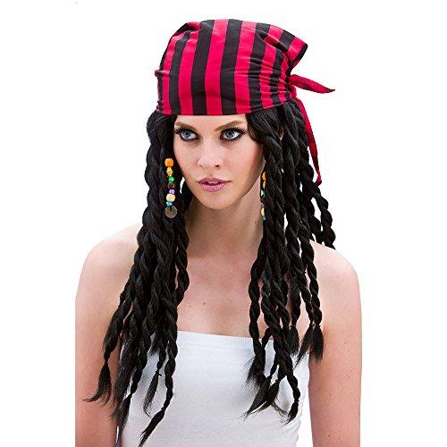 Ladies Buccaneer Beauty Wig for Pirate Fancy Dress Womens