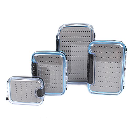 Dr.Fish Large Fly Fishing Box Waterproof Flies Case Storage Double Sided Clear View Deep Slot