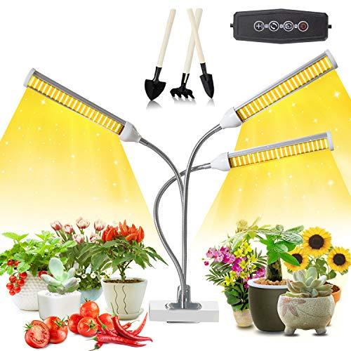 150W 315 LED Pflanzenlampe, wachsende Pflanzenlampe, Vollspektrum-Wachstumslicht, Wachstumslicht mit 3H / 6H / 12H-Auto-Timer und 5 Helligkeitsstufen