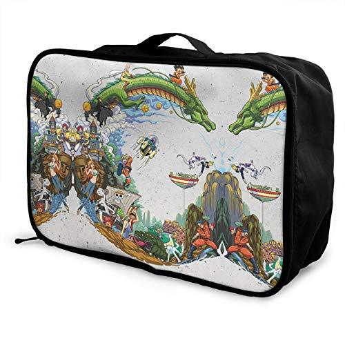 Best Anime Manga Heroes Bolsa de viaje impermeable de moda ligera de gran capacidad portátil bolsa de equipaje bolsa de semanario durante la noche