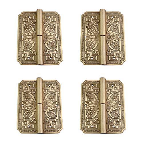 Tiazza 4 Stücke Antike Messing Doppeltüren Scharniere Schublade Kleiderschrank Bücherregal Tür Abnehmbare Scharniere Möbel Zubehör