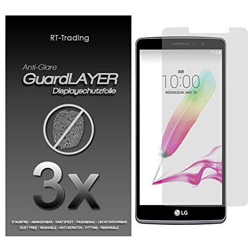 3x LG G4 Stylus - Bildschirm Schutzfolie Matt Folie Schutz Bildschirm Anti Glare Screen Protector Bildschirmfolie - RT-Trading