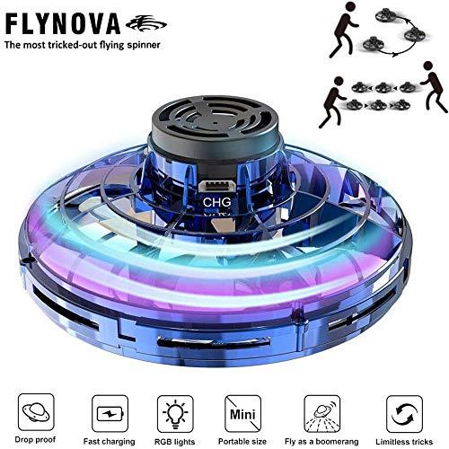 AIDA FlyNova Hands Free Mini-Drohne Hubschrauber Mit 360 ° Dreh- Und Shinning LED-Leuchten Für Kinder Und Erwachsen-Geschenk Für Überraschungen Blue
