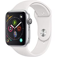 Apple Watch Series 4 44mm GPS Smartwatch with White Sport Band (Silver Aluminium Case)