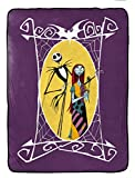 Jay Franco Disney Nightmare Before Christmas Sherpa Blanket - Measures 60 x 80 inches, Kids Bedding Features Jack Skellington & Sally - Super Soft (Official Disney Product)