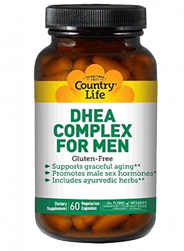 Country Life DHEA Complex Supplement, 60 Vegetarian Capsules (Supports Prostate Health, High Energy Levels & Healthy Skin) Non-GMO, Gluten Free