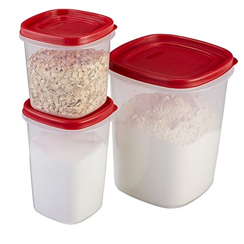 Rubbermaid Easy Find Lids Food Storage Containers, Racer Red, 6-Piece Set