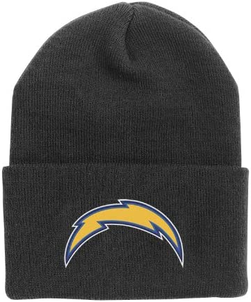 NFL End Zone Cuffed Knit Hat - K010Z, San Diego Chargers, One Size Fits All