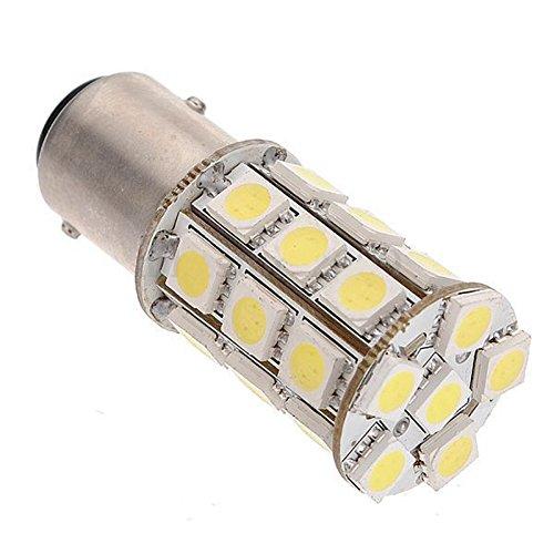 Yaootely 4pcs 1157 BAY15D P21 / 5W 27 SMD 5050 Bombilla LED de lampara de Freno de 12V de Cola del Coche de Color Blanco