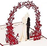 PrimePopUp | Liebeskarte | Paar unter Blumenkranz | 3D Pop Up Karte | besondere Hochzeitskarte | Geschenk für Freundin Freund |...