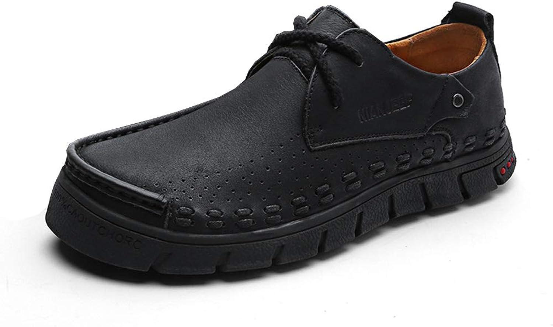 CYL Herrenschuhe aus Leder, Spitzenschuhe aus Leder, Herrenschuhe, verschleifeste atmungsaktive, stodmpfende Schuhe mit niedrigem Oberteil, groe, lssige Schuhe