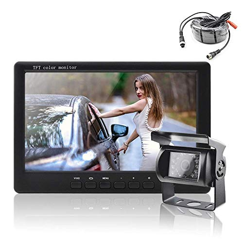 YBB-YB YankimX - Monitor de visión trasera de coche de 7 pulgadas HD de visión nocturna para visión trasera
