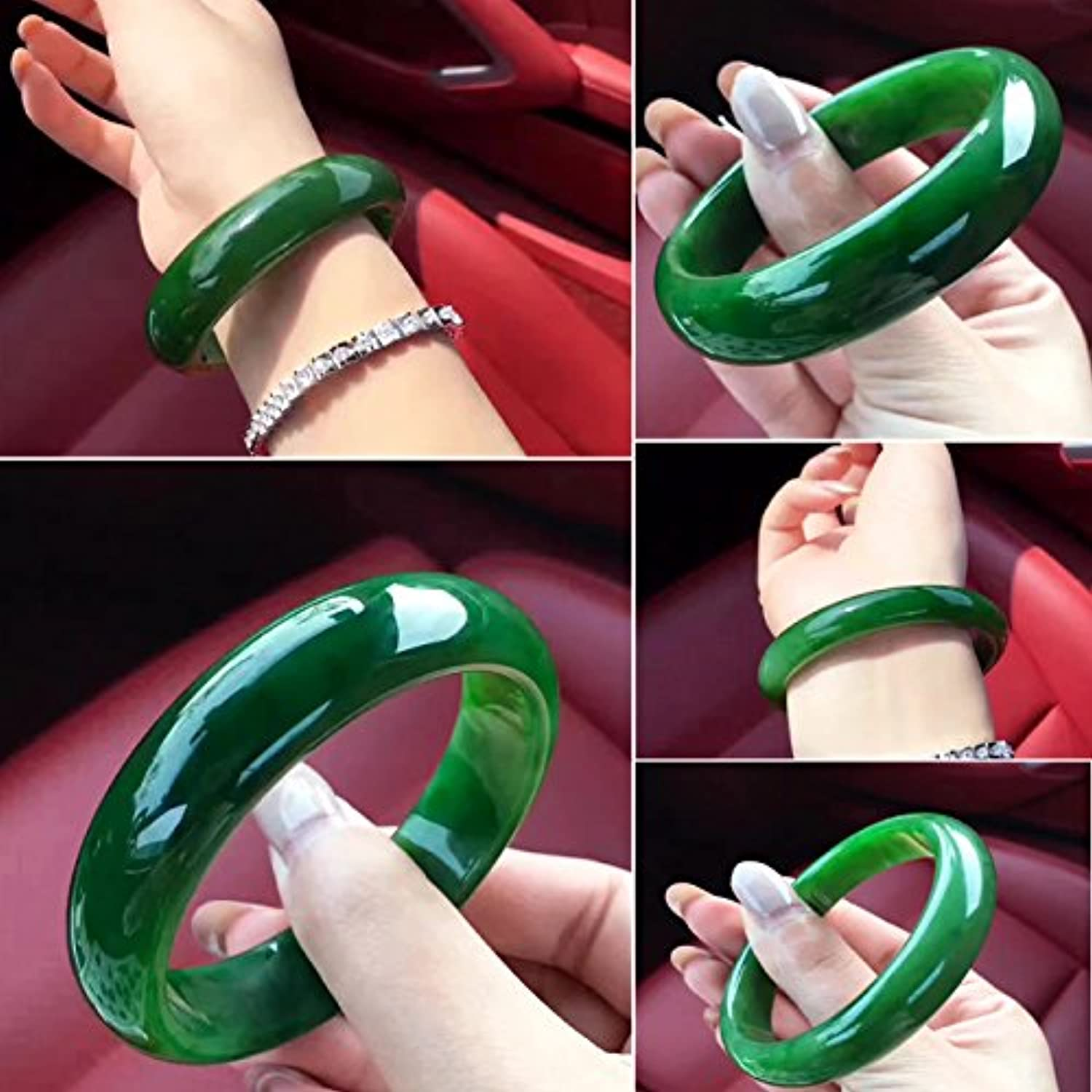 Natural Xinjiang Hetian Jade Bracelets and Necklace Pendant Ring Bracelet Spinach Green Certificates Sent No Black