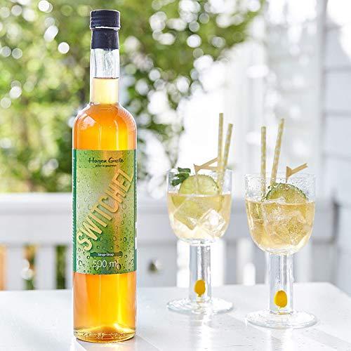 Hagen Grote Switchel Konzentrat, 500 ml, nach US-Originalrezept, aus Ingwer und Apfelessig, als isotonischer Durstlöscher oder Basis für Longdrinks