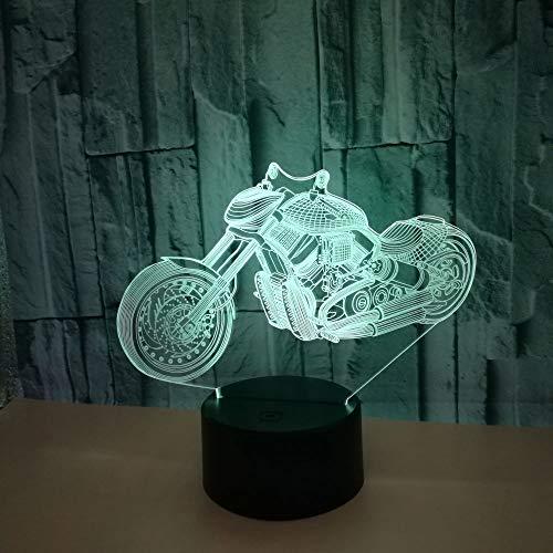 Zhuhuimin Creatieve nieuwe 7-kleuren noten-tafellamp van de motorfiets 3D afgewerkt geleidelijk decoratieve tafellamp bijzonder aan de productie