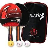 Juego de tenis de mesa, juego de ping pong con bates de tenis de mesa, pelotas y bolsa de transporte portátil para interior y exterior juego de tenis de mesa