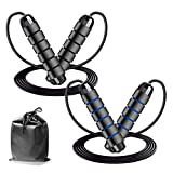 JoyGeek Exercise Jump Rope for Fitness, 2020 New Jumping Rope Workout for Women Men Adults Kids, Skipping Rope Tangle-Free Ball Bearing Memory Foam for Boxing, Speed and Endurance Training 2 Pack