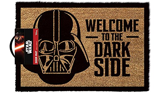 empireposter Star Wars Welcome To The Darkside - Fußmatte, Größe: 60 x 40 cm, Material Kokosfaser