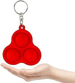 Mini Fidget Simple Dimple Keychain, Push Pop Bubble Sensory, Silicone Pressure Fidget Toy, Anti Stress, Anxiety Reliever, ...