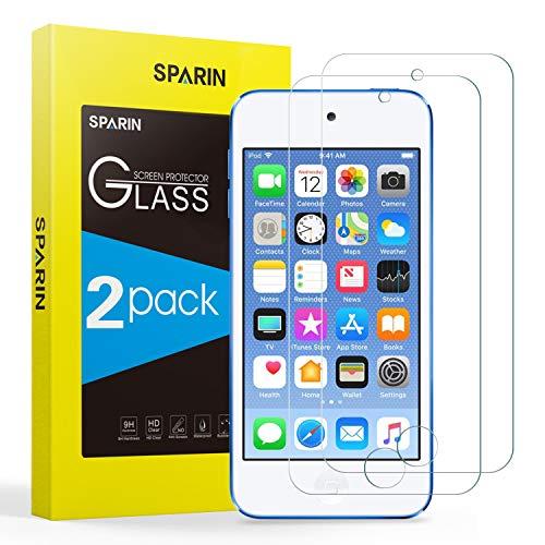 SPARIN Verre Trempé Compatible avec iPod Touch 7 2019 / 6 / 5, [Lot de 2] Protection Ecran Pour iPod Touch 5ème, 6ème, 7ème Génération, Ultra Clair, 9H