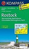 KOMPASS Wanderkarte Rostock - Warnemünde - Bad Doberan: Wanderkarte mit Aktiv Guide, Radwegen und Reitwegen. GPS-genau. 1:50000 (KOMPASS-Wanderkarten, Band 735)