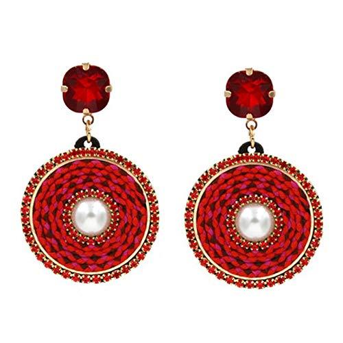 YLHJM Pendientes para Mujer Pendientes Colgantes de Cristal Pendientes llamativos Regalo de joyería de Fiesta