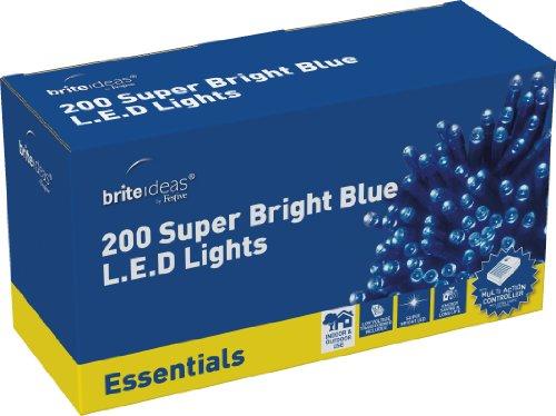 Brite Ideas Festliche Lichterkette 200 Multiaktion LED Lichter, Blau