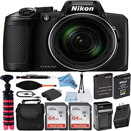 Nikon COOLPIX B600 Digital Camera (Black) with 2X...