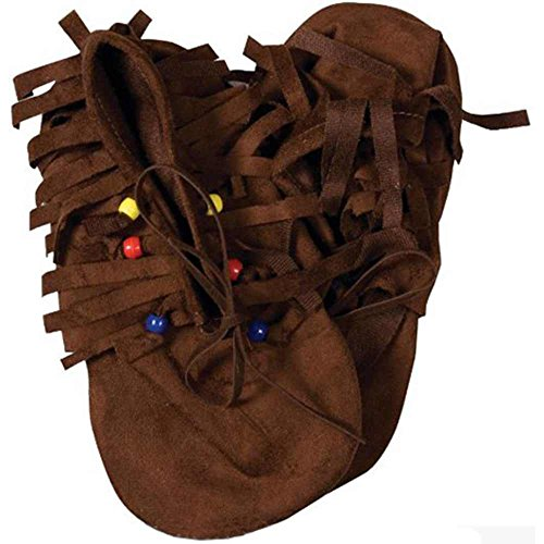 Forum Novelties Native American Costume Moccasin Shoes Child 1 to 5
