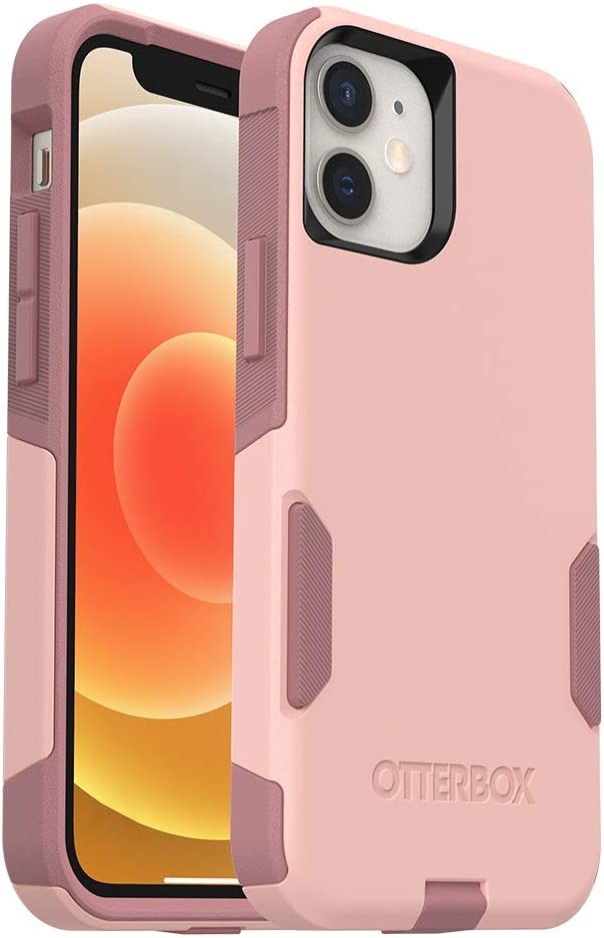 OtterBox Commuter Series Case for iPhone 12 Mini - Ballet Way (Pink Salt/Blush)
