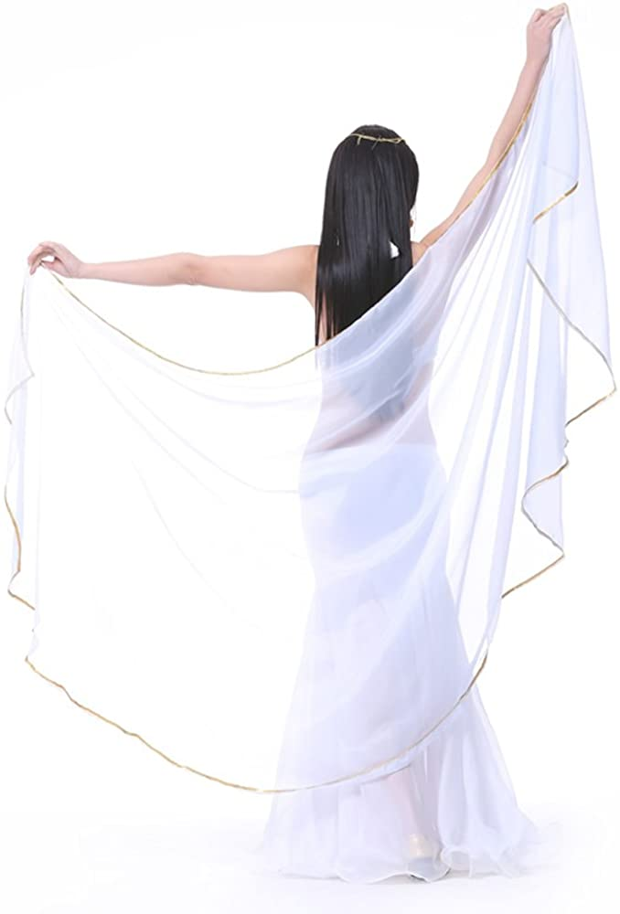 Chicago Mall Lightweight Semicircle Chiffon Hand Scarf Direct stock discount Belly Ou Dance Costume