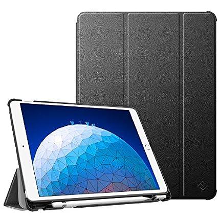 """FINTIE Funda para iPad Air 10.5"""" (3.ª Gen) 2019/iPad Pro 10.5"""" 2017 con Soporte Incorporado para Pencil - Súper Ligera Carcasa Protectora con Función de Auto-Reposo/Activación, Negro"""