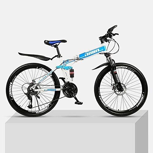 ZYD Foldable Mountain Bike 24/26 Inches, Bicycle with Spokes Wheel