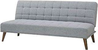 AmazonBasics - Sofá cama de tres plazas, 180 x 86 x 81, azul medianoche