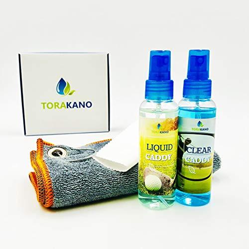 TORAKANO Mixed Caddy - Reinigung & Pflege Set für Golfschläger und Golf Equipment und Brillen (Grau)