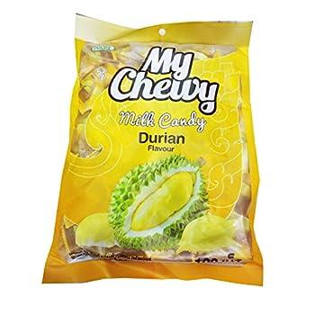 Chewy Milk Fruit Candy 100 pcs Toffee HAOLIYUAN Brand Thai Dessert Taro Flavor Big Pack  Durian
