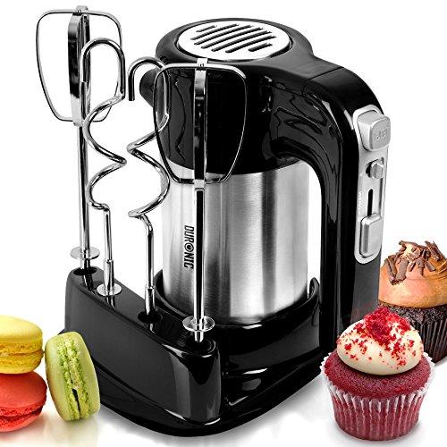 Duronic HM3 elektrischer Handmixer | 300 Watt | Aufbewahrungsbasis | Edelstahl | 2 Rührbesen | 2 Knethaken| Mixer | Knet- und Rührmaschine | Handrührer | Ideal für Kuchen, Schnee, Schlag