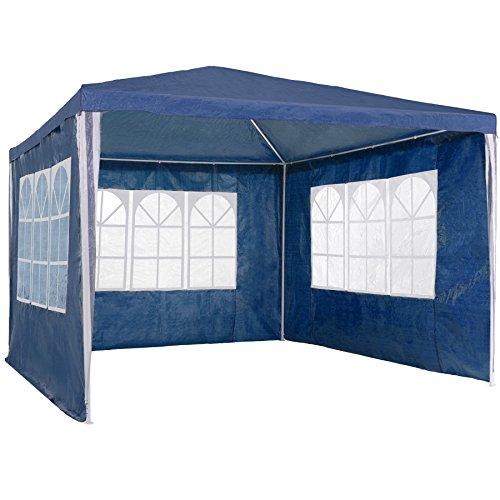 TecTake Gazebo Jardín Carpa Fiesta Camping Tienda Cerveza con Paredes laterales 3x3m - disponible en diferentes colores - (Azul |...