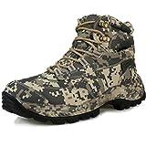 TH&Meoostny Zapatos de Senderismo Profesional Impermeable montañas Escalada Trekking botots Hombres al Aire Libre Transpirable táctico Caza Botas Gray(Low-Top) 11