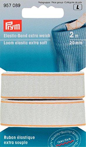 PRYM 20mm 2m Extra Loom Elastic, Weiß