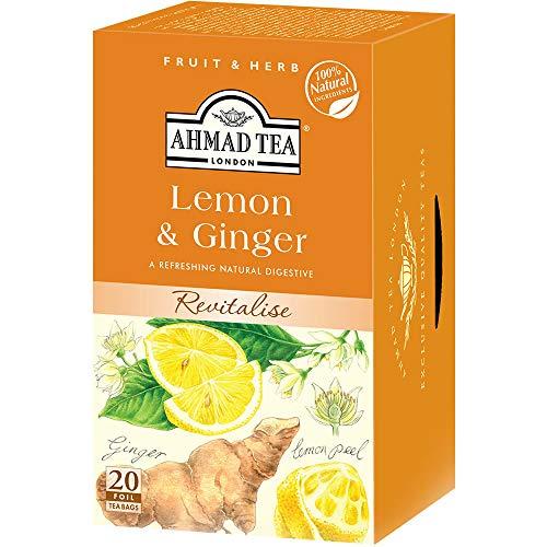 富永貿易 AHMAD レモン&ジンジャー ティーバッグ 1セット 120バッグ:20バッグ×6箱