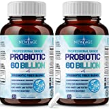 (2 Pack) Probiotics 60 Billion CFU with Prebiotic Formula - Probiotics for Women and Men and Adults, 100% Natural Digestive Enzymes, Shelf Stable Probiotic Supplement with Organic Prebiotic