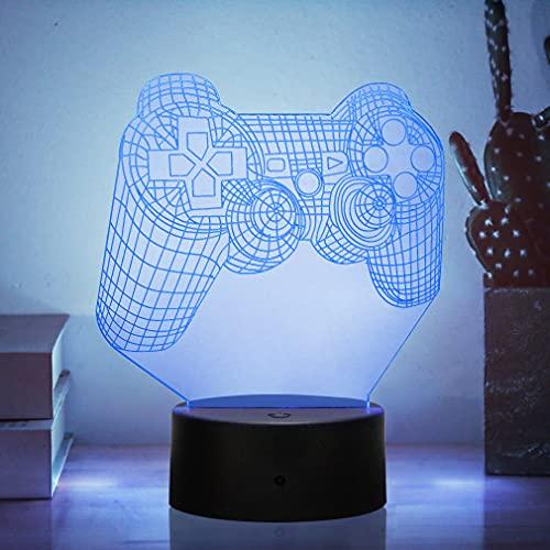 Lampada Illusion 3D, luce notturna 3D per i ragazzi Ragazze Tabella Desk Lampada 16 Cambia colore Decor Lampada - Regali perfetti Compleanno Festival di Natale per gli amici dei bambini adolescenti