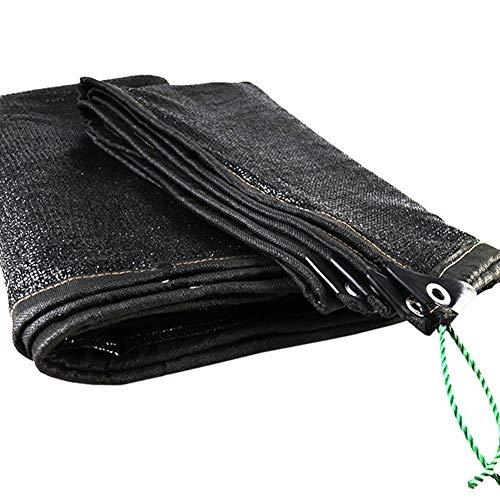 Noir 95% Ombres Taux Cryptage Épaississant Anti-âge Balcon Serre Patio Filet D'ombrage, 22 Tailles (Color : Black, Size : 6×9m)