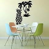 BFMBCH Palm Pineapple Fruit Wall Sticker Decoration Kitchen Vinyl Wall Sticker Living Room Restaurant Art Deco Wall Sticker A2 57x82cm