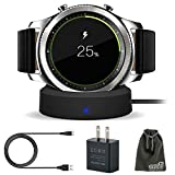 EEEKit Galaxy Gear S3 Charger, Qi Wireless Replacement Charging Dock Cradle Stand Charger + AC Wall Charger Adapter for Samsung Gear S3 Classic/Frontier Smart Watch … B01NBN7AAJ