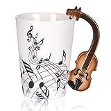Amore musica violino note modello libertà stile tazza in ceramica tazza per tè e caffè latte con manico Gift