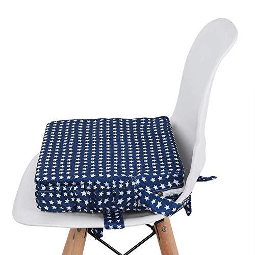 Kinder Sitzkissen Sitzerhöhung Stuhl Kind, Fansu Baby Tragbar Sitzkissen Cartoon Quadratische Verstellbar Zerlegbar Kleinkinder Esszimmerstuhl ErhöHen Pad Esszimmer Boostersitze (Blau)